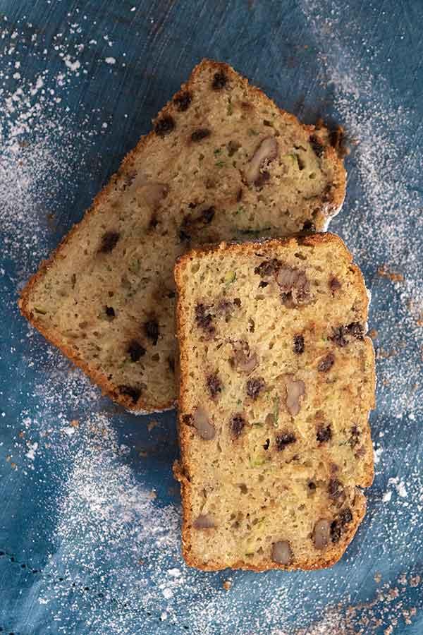 olive oil zucchini bread, gluten-free