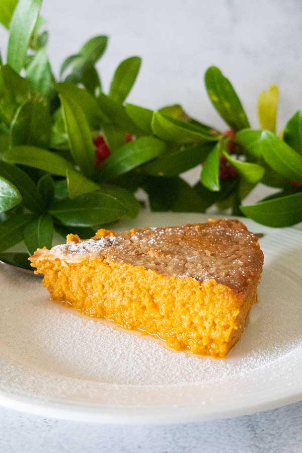 Jamaican sweet potato pie, gluten-free