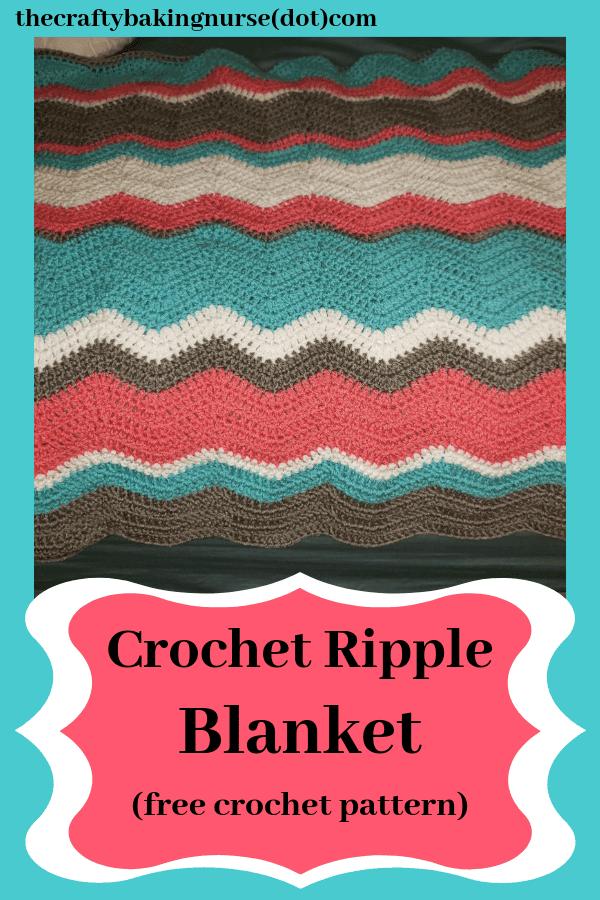 Crocheted Ripple Blanket