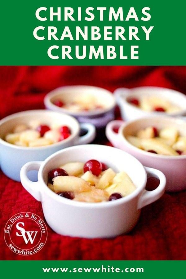 Christmas cranberry crumble recipe