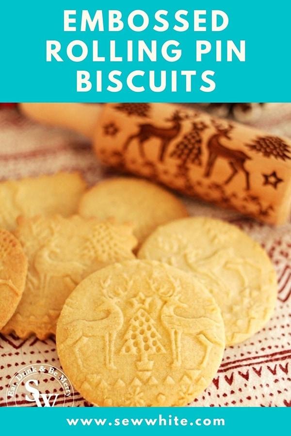 Embossed Rolling Pin Biscuit Recipe pinterest pin