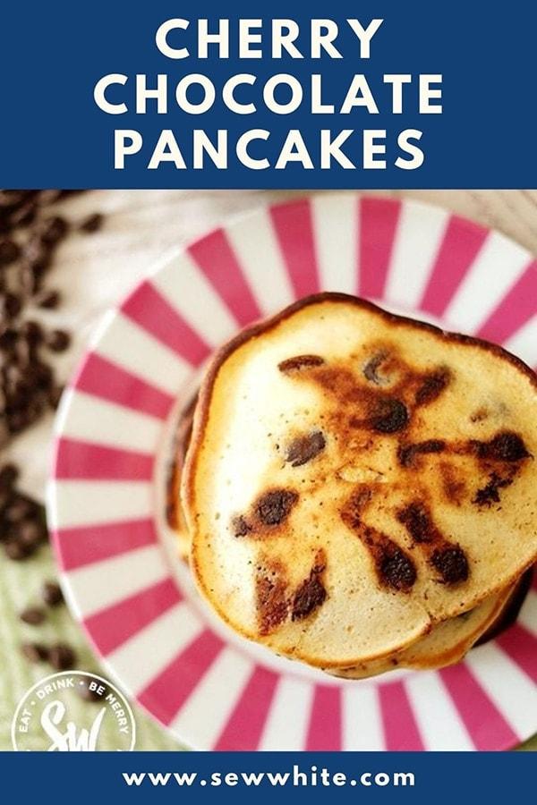 cherry chocolate pancakes