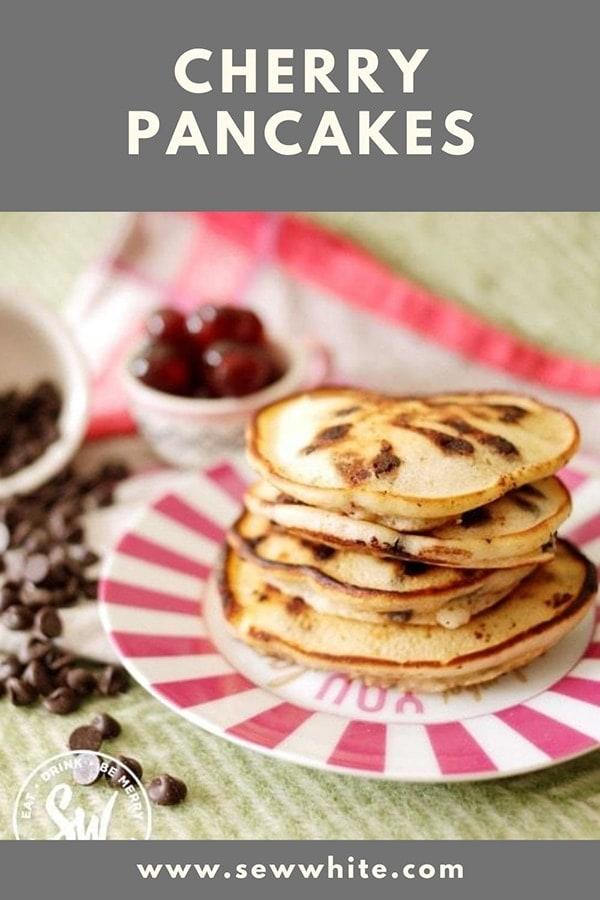 cherry pancakes pinterest pin