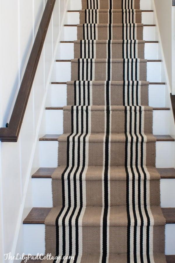 Stair runner and Laminate floor staircase DIY