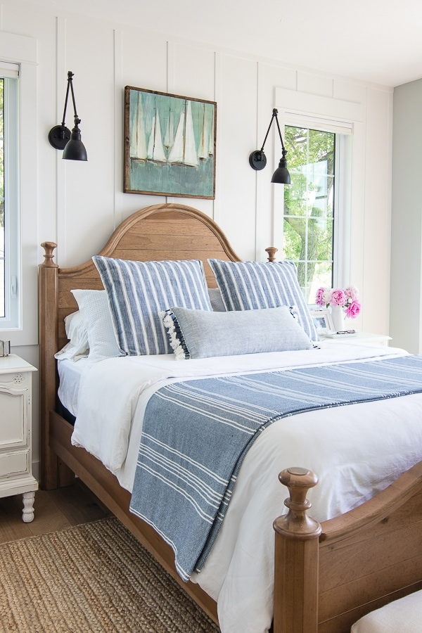 Lake House Bedding Blue and white