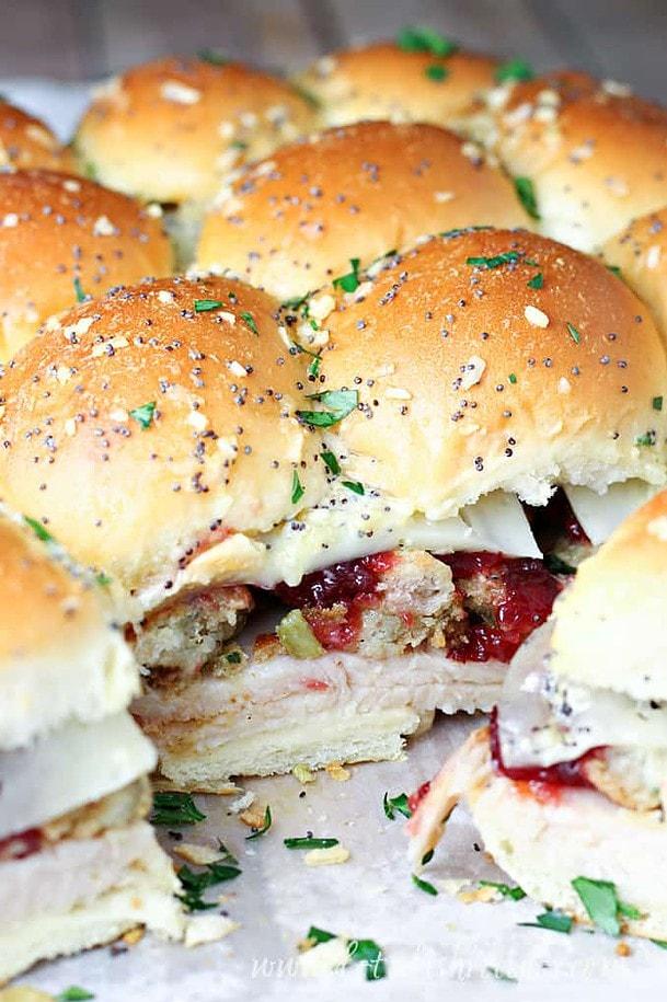 Leftover Thanksgiving Turkey Sliders