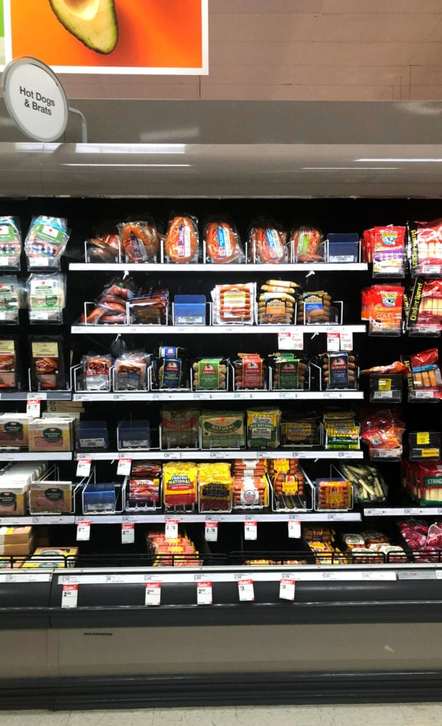 Hot Dogs And Brat Aisle at Target (1)