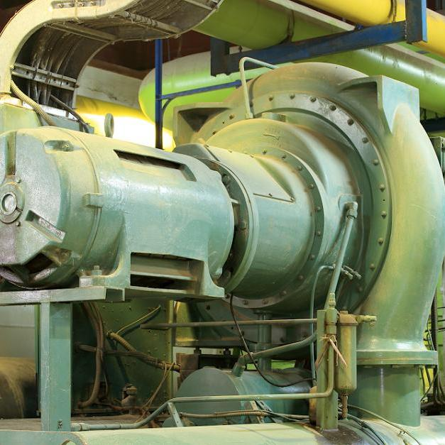Large green open drive centrifugal compressor