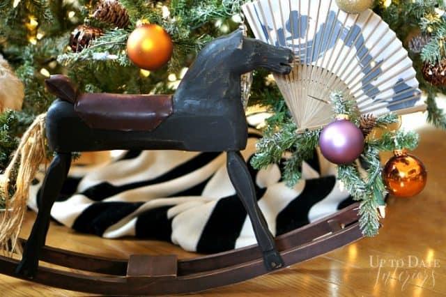 rocking horse under the Christmas tree