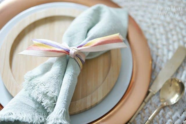 Diy Dyed Cloth Napkins Diy Napkin Ring