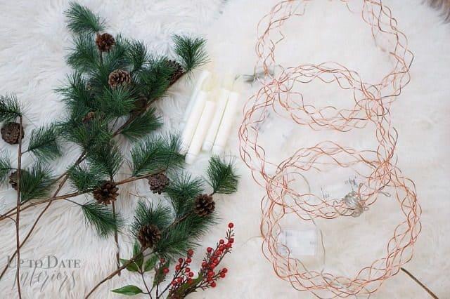 Copper Wreath Pre Lit Forms Evergreen