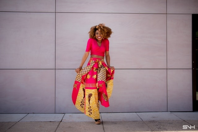 This African print palazzo pants set is freaking stunning. Such a beautiful, pink wrap-around trousers. Need this wrap around crop top in my life. Ankara | Dutch wax | African print dress | African fashion | African women dresses | African prints | Nigerian style | Ghanaian fashion | Kenya fashion | Nigerian fashion | African clothes | ankara dresses | ankara styles
