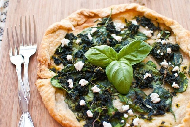 Spinach and Goat Cheese Galette-016