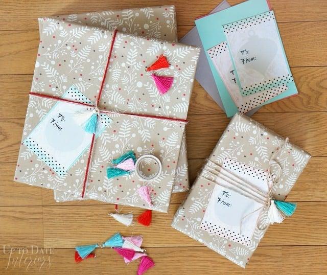 DIY washi tape Christmas Gift tags