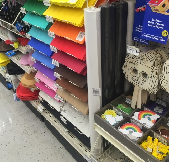 Foam roll available at Michael's in white and black color