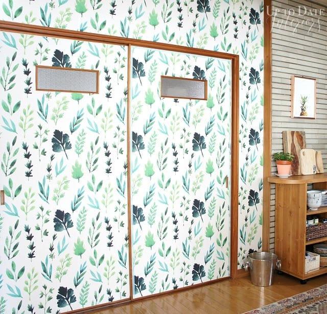 botanical print for kitchen wallpaper