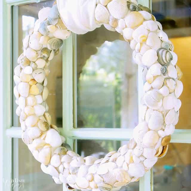 Diy Seashell Beach Wreath Clam Shells 2