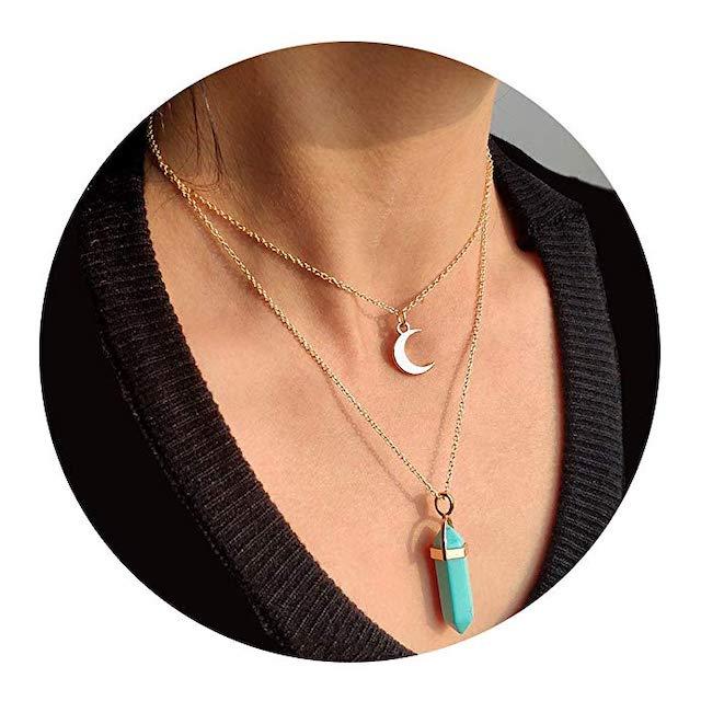 Amazon Artilady Layer Opal Choker Necklace