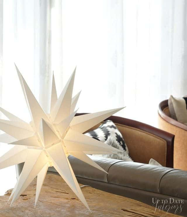 add soft light during winter months with interesting light fixtures