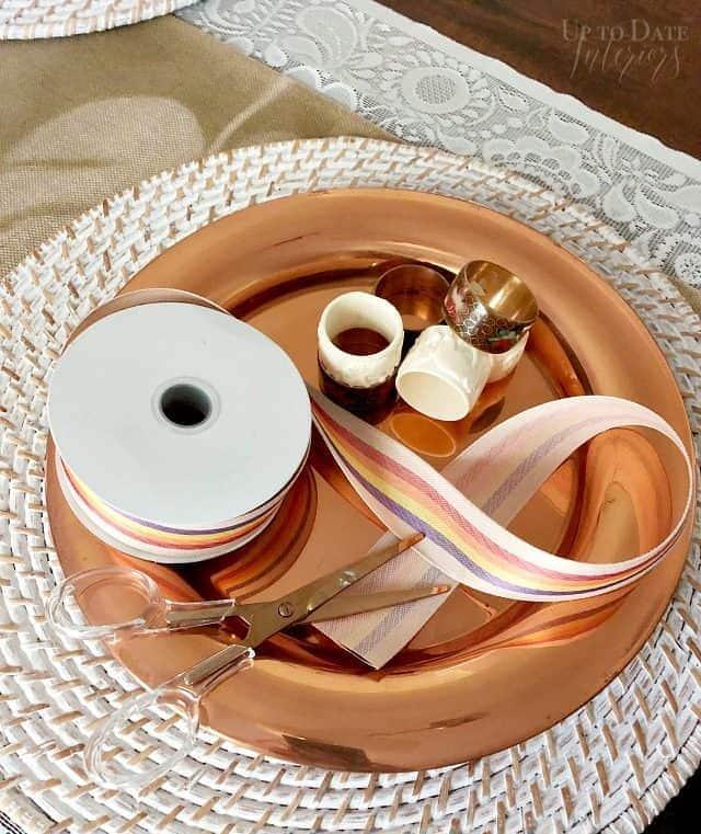 Ribbon Napkin Rings Supplies