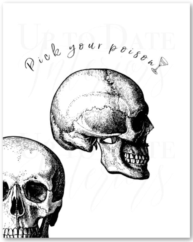 Pick Your Poison Halloween Printable Art Drop Shadow Wateramark