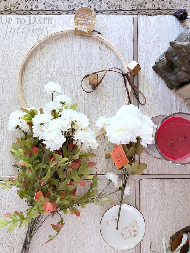 Supplies Modern Halloween Floral Crescent Moon Wreath