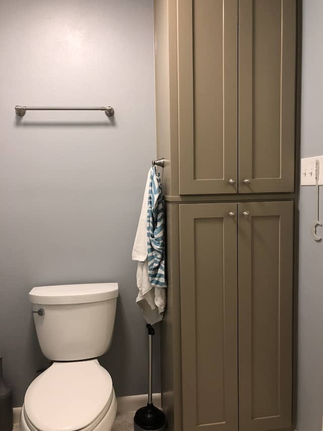 toilet and storage