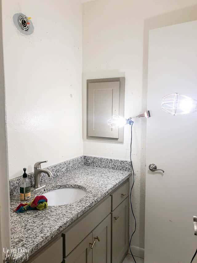 Black Wall Paint In The Bathroom Watermark 3