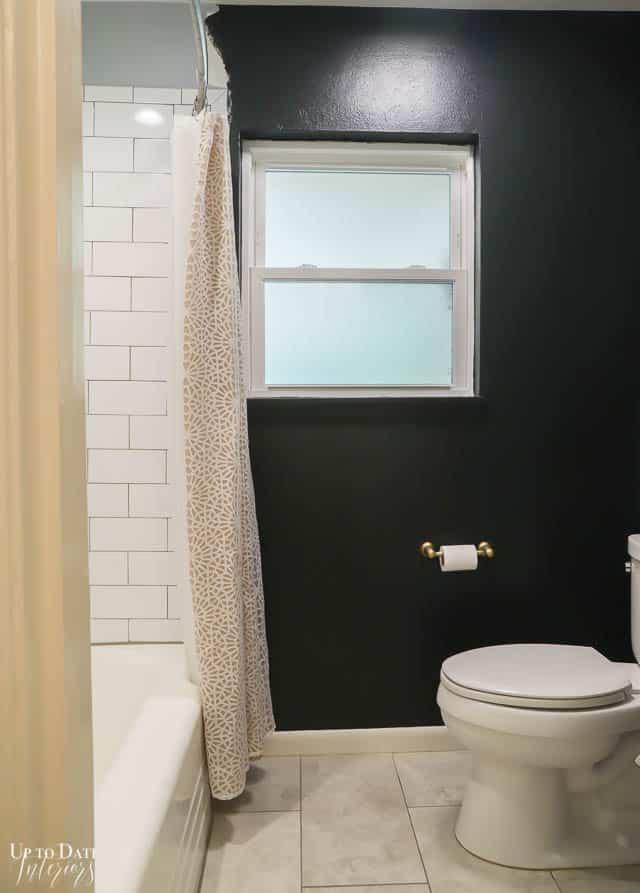 Black Wall Paint In The Bathroom Watermark 8