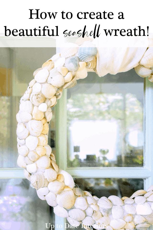 Diy Beach Seashell Wreath With Clam Shells Pinterest