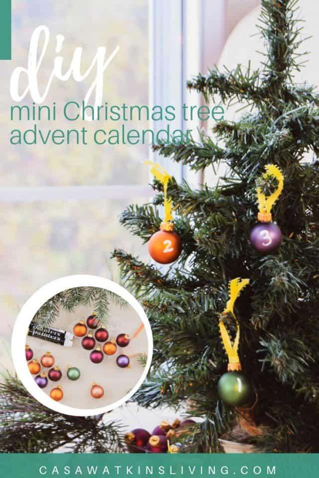 Mini Christmas Tree Advent Calendar Idea