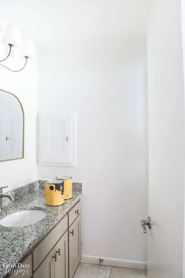 Black Wall Paint In The Bathroom Watermark 14