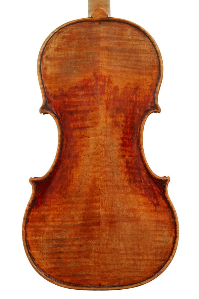 Back plate of Guarneri model violin made in 2019