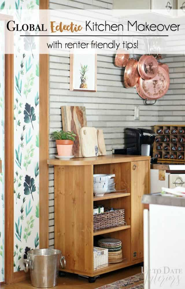 global eclectic kitchen makeover
