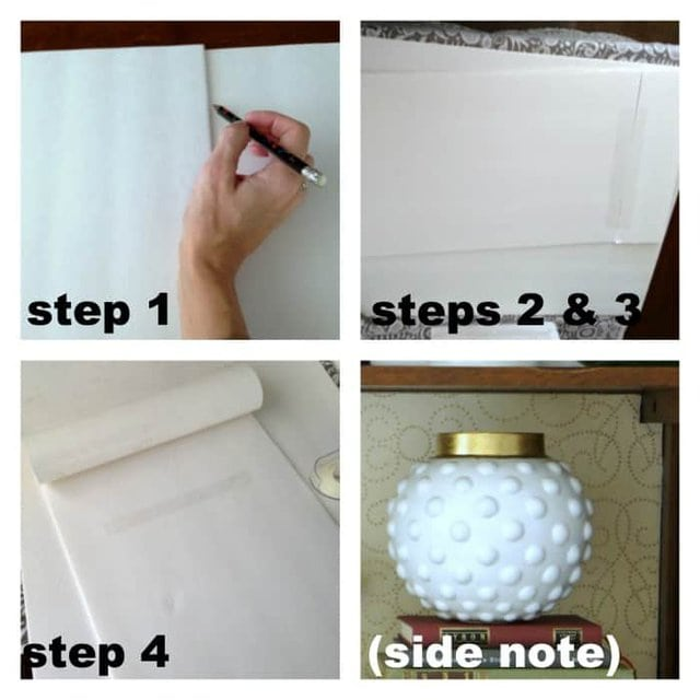 How to makeover your bookcase without paint step by step.