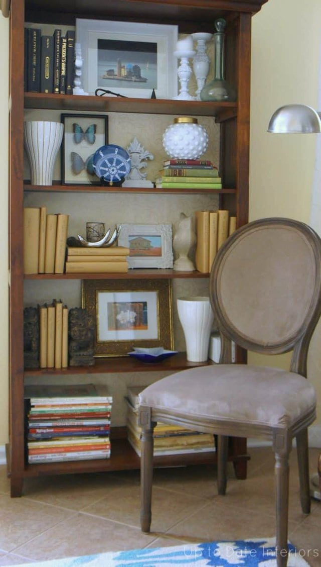 change your bookcase without paint for a cheap makeover