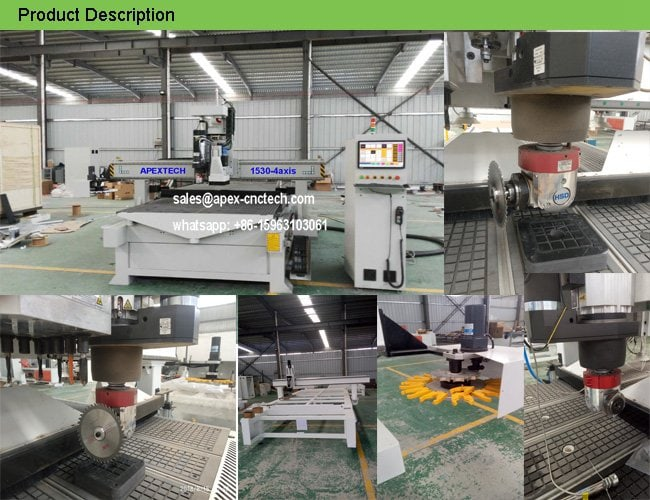 4 Axis Professional CNC Machine with Drilling Head