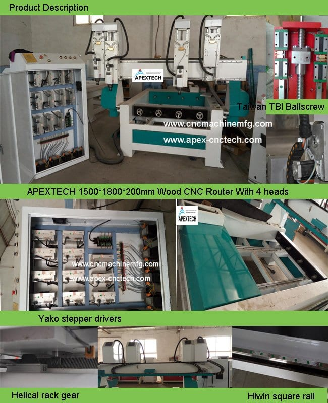 3015 CNC Rotary Router for EPS Sculpture Mould