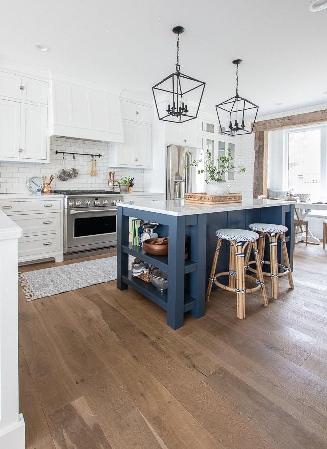 navy island white kitchen