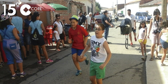 Los niños fueron protagonistas en el encierro infantil de Cantalpino