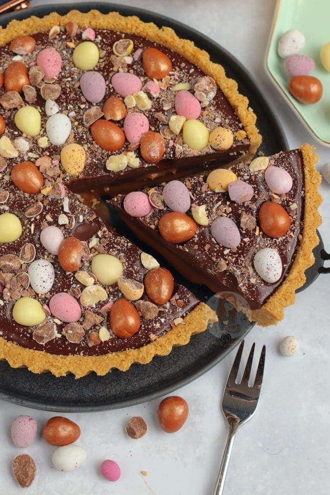 Easy No-Bake Salted Caramel Easter Tart by Jane's Patisserie