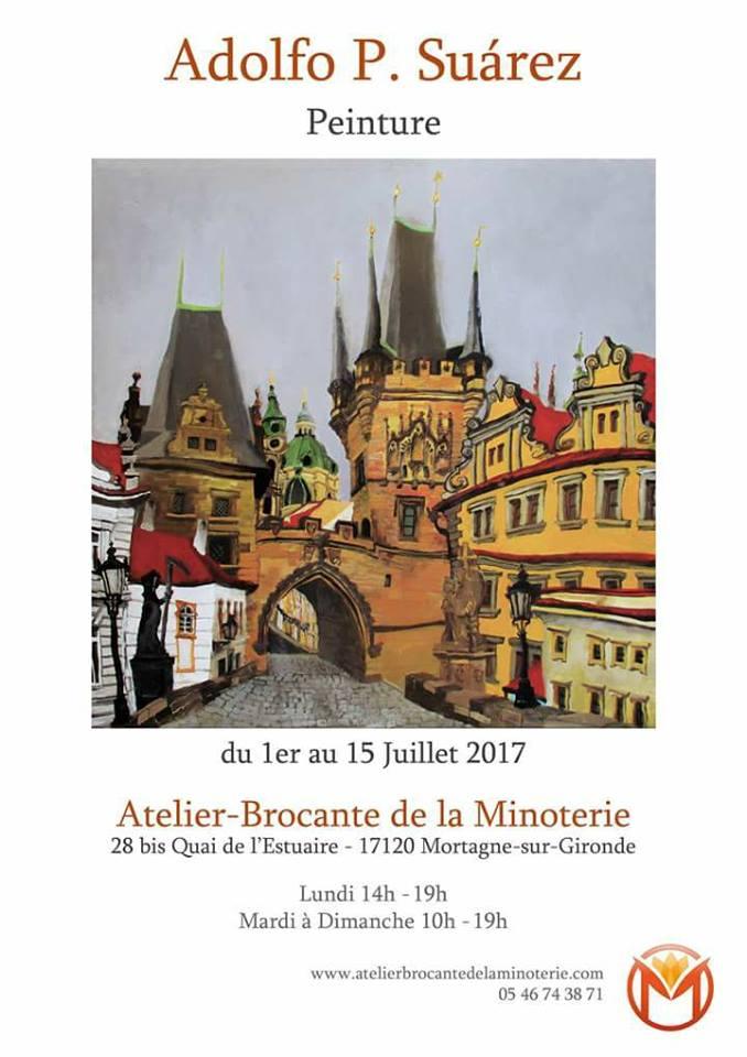 Exposición en el Atelier-Brocante de la Minoterie, Mortagne-Sur-Gironde, Grancia DEl 1 al 15 de julio de 1997.
