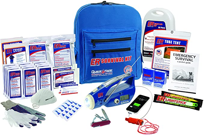 ER Emergency Ready 2 Person Ultimate Deluxe Backpack Survival Kit, SKBP2DD