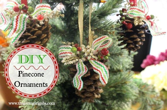 Rustic Pinecone Ornaments