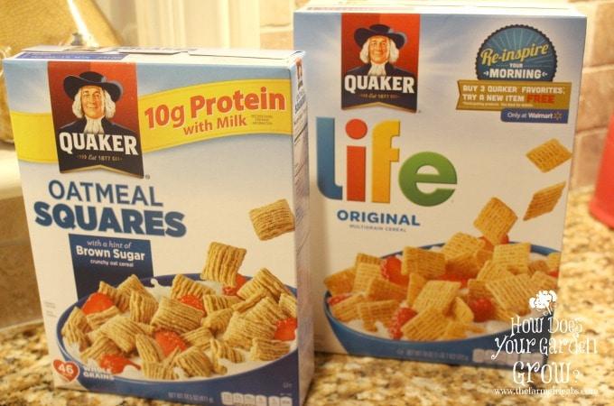 Quaker Cereals www.thefarmgirlgabs.com