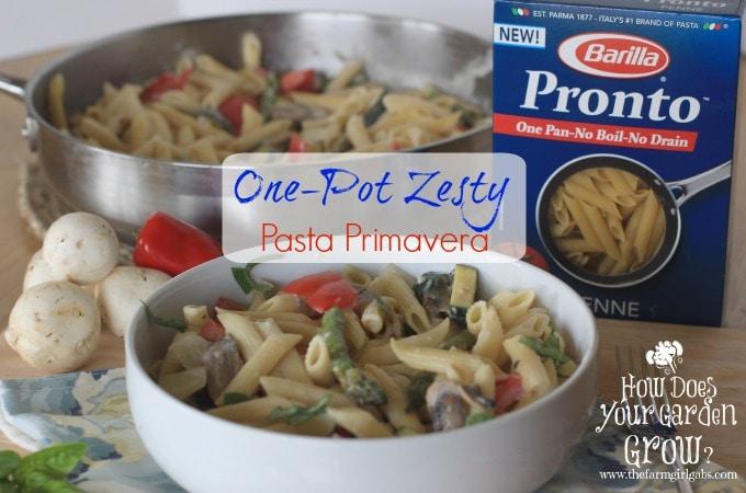 One-Pot Zesty Pasta Primavera