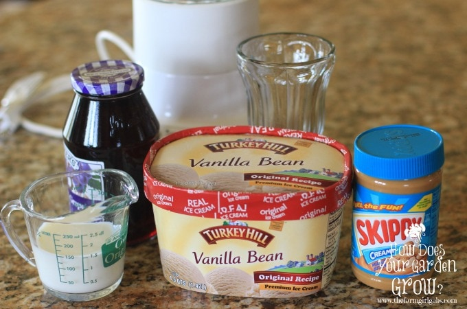 PBJ Milkshake Ingredients