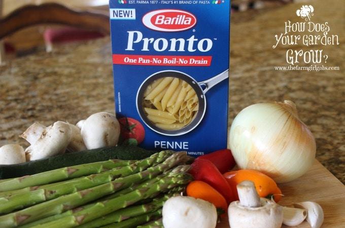 Pasta Primavera Ingredients