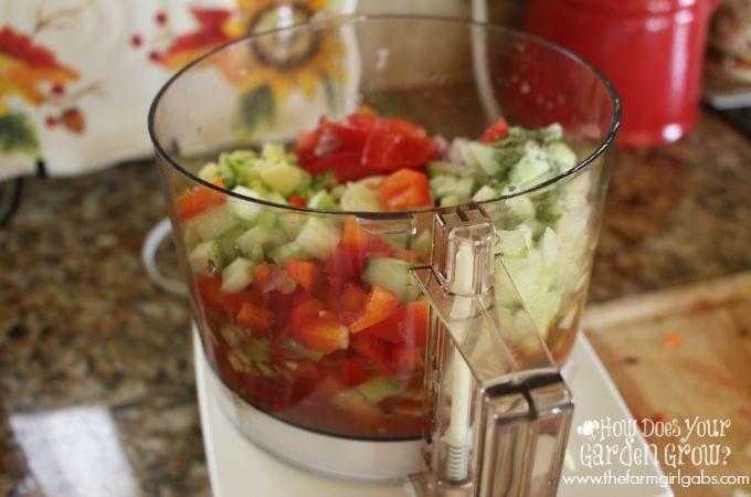 Gazpacho Vegetables 2