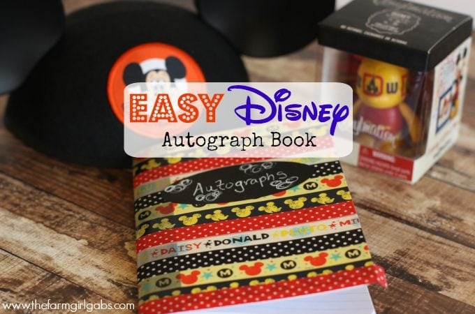 Make Your Own Disney Autograph Book